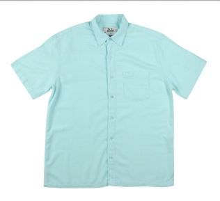 Men's Bamboo Short Sleeve Shirt in Marine