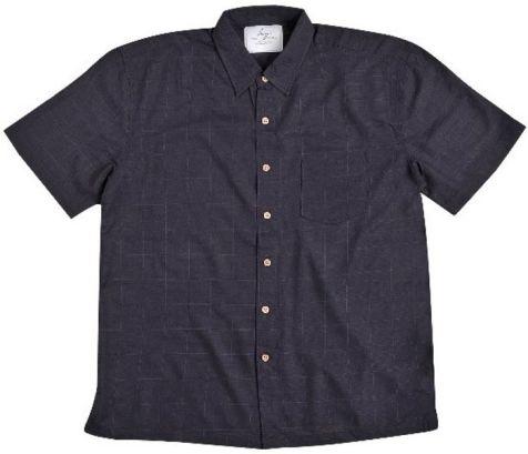 Mens Bamboo Fibre Short Sleeve Shirts: Navy