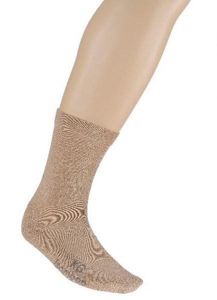 Bamboo Fibre Loose Top Business Socks - Sand
