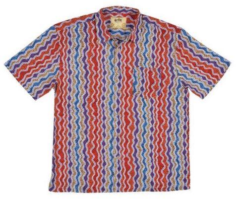 "Men's Bamboo Short Sleeve Shirt - ""Dreaming Range""- Bean Tree"