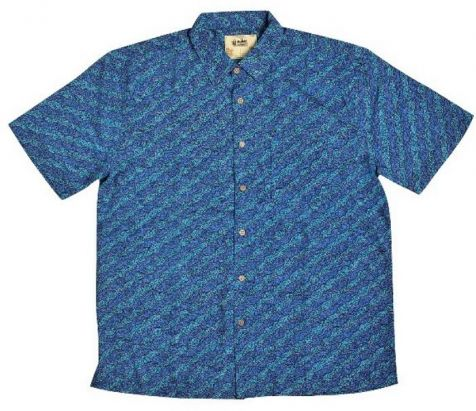 "Men's Bamboo Short Sleeve Shirt - ""Dreaming Range""- Water Dream"