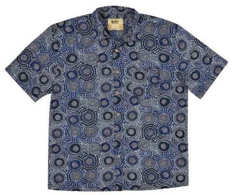 "Men's Bamboo Short Sleeve Shirt - ""Dreaming Range""- Mina Mina"