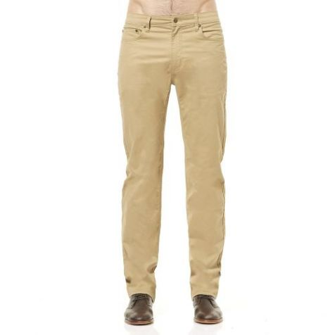 """Men's Riders By Lee Straight Stretch 5 Pocket Jean Style Chino Pant - Light Camel with 31""""/34"""" Inleg - Waist Size 32""""-44"""""""