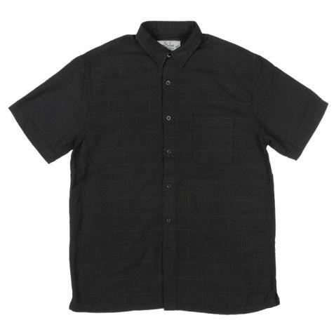 Mens Bamboo Fibre Short Sleeve Shirts: Black