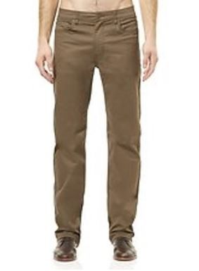 """Men's Riders By Lee Straight Stretch 5 Pocket Jean Style Chino Pant - Dark Cedar with 31""""/34"""" Inleg - Waist Size 32""""-42"""""""
