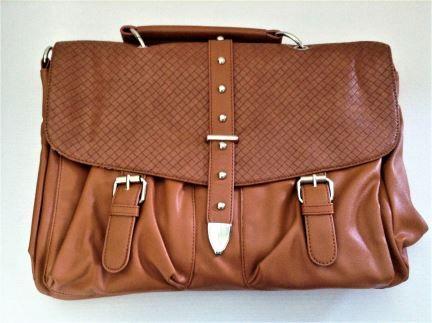 "Mink & Satchel Ladie's ""Natalie"" Faux Leather Handbag"
