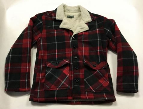 Men's Ozemocean Flannel Sherpa Lined Winter Jacket RED CHECK
