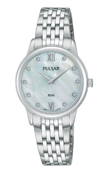 Pulsar Ladies Dress Watch - PM2203X - Stainless Steel Silver Bracelet with Swarovski Crystal Elements