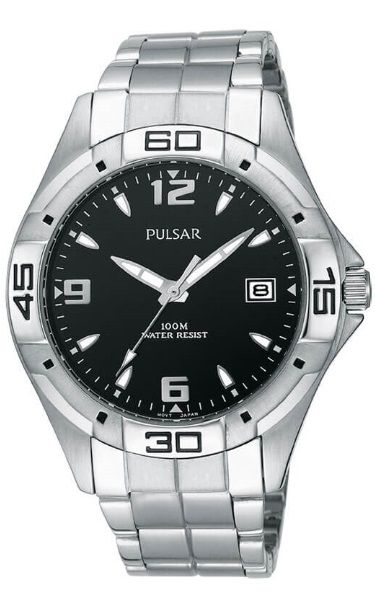 Pulsar Workmans Stainless Steel Water Resistant Watch PXH447X