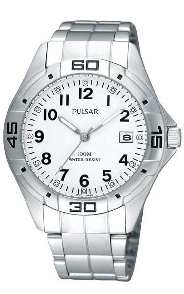 Pulsar Workmans Stainless Steel Water Resistant Watch PXH937X