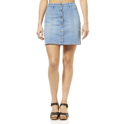 Riders By Lee Ladies Button Front Skirt - Summer Rain