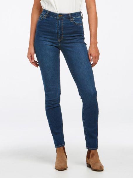 Ladies' Riders by Lee Classic High Rise Slim Denim Jeans TRUE INDIGO