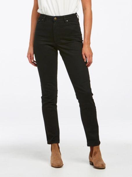 Ladies' Riders by Lee Classic High Rise Slim Denim Jeans FLAT BLACK