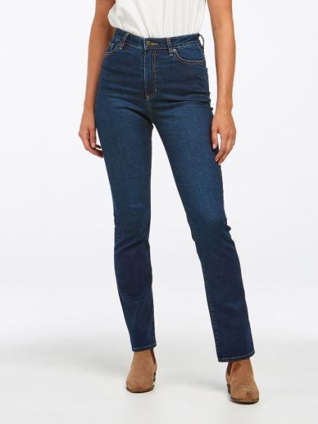 Ladies' Riders by Lee Classic High Rise Straight Denim Jeans DARK INDIGO