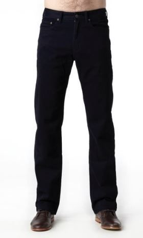 """Men's Riders By Lee Straight Stretch 5 Pocket Jean Style Chino Pant - Navy with 31""""/34"""" Inleg - Waist Size 32""""-42"""""""