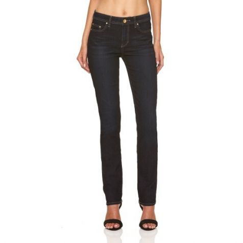 Riders by Lee Ladies Mid Rise Straight Leg Jeans - Worn Rinse Blue