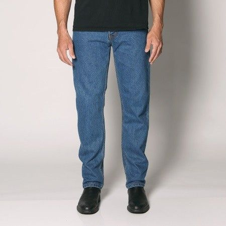 "Sterling - Men's Regular Fit Rigid Denim Jeans - Straight Leg - 30""/32""/34"" Inleg - ""Stone"" Waist Size: 28""-48"""