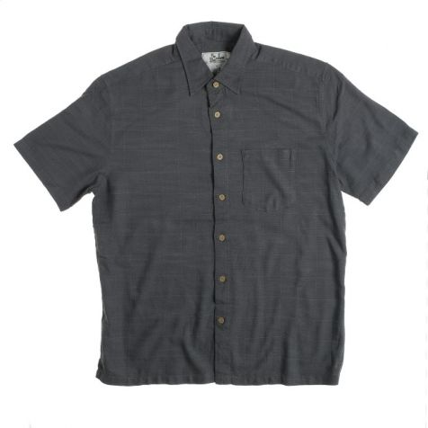 Mens Bamboo Fibre Short Sleeve Shirts: Steel