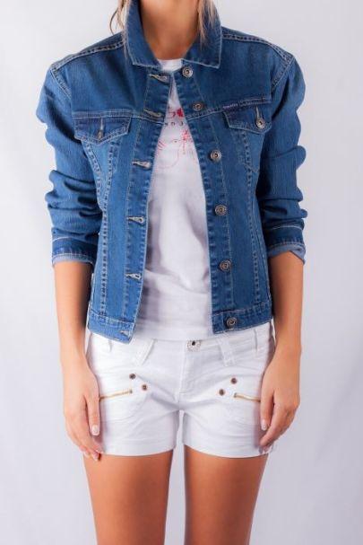 Staggers Ladies Stretch Denim Jacket - Chantelle Style - Indigo Vintage Wash