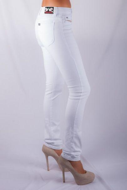 STAGGERS Ladies High-Rise- Skinny Stretch Denim Jeans -  Arctic White ladies fashion pants