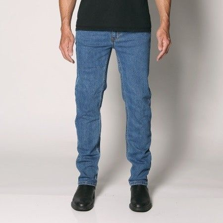 "Sterling - Men's Regular Fit Stretch Denim Jeans - Straight Leg - 30""/32""/34"" Inleg - ""Stonewash"" Waist Size: 30""-48"""