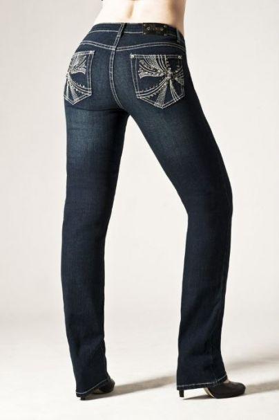 Ladies' Tru Luxe Shanghai Mid-Rise Straight Leg Jeans MIDNIGHT WASH