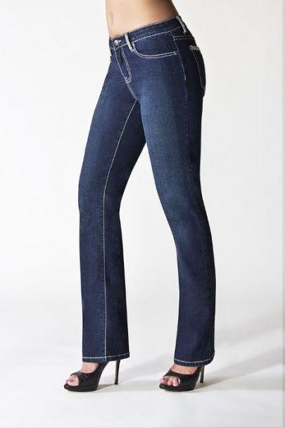 Ladies' Tru Luxe Beverly Hills Mid-Rise Straight Leg Jeans INDIGO WASH