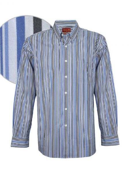 Men's Thomas Cook Button Up Long Sleeve Shirt FRANKLIN STRIPE