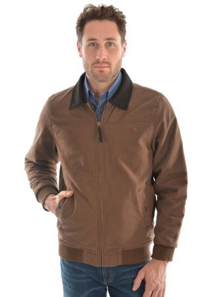 Men's Thomas Cook Canvas Bomber Fleece Lined Jacket