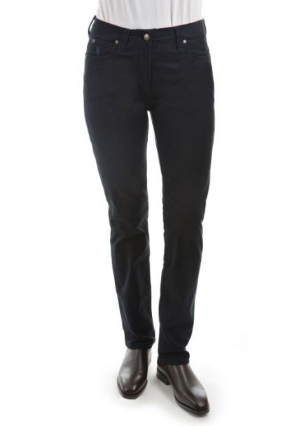 Ladies' Thomas Cook Mid-Rise Slim Stretch Moleskins NAVY