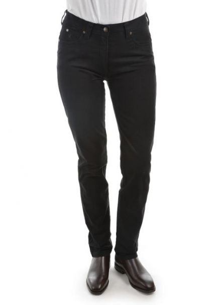 Ladies' Thomas Cook Mid-Rise Slim Stretch Moleskins BLACK