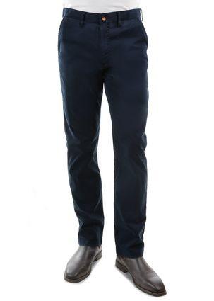Men's Thomas Cook Mossman Comfort Waist Chino Trousers Dark Navy