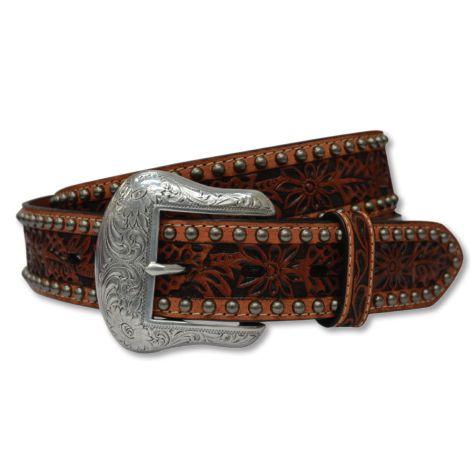 Twisted X Men's Floral Studs Genuine Leather Belt