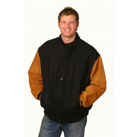 Winning Spirit - Men's Bomber Wool & Suede Jacket