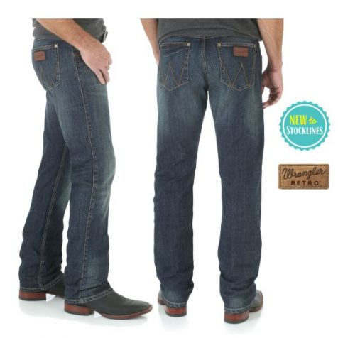 Men's Wrangler Retro Slim Straight Jeans BOZEMAN