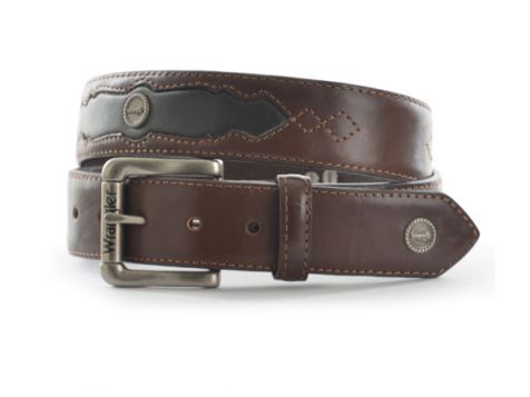 Men's Wrangler Connor Full Grain Leather Belt