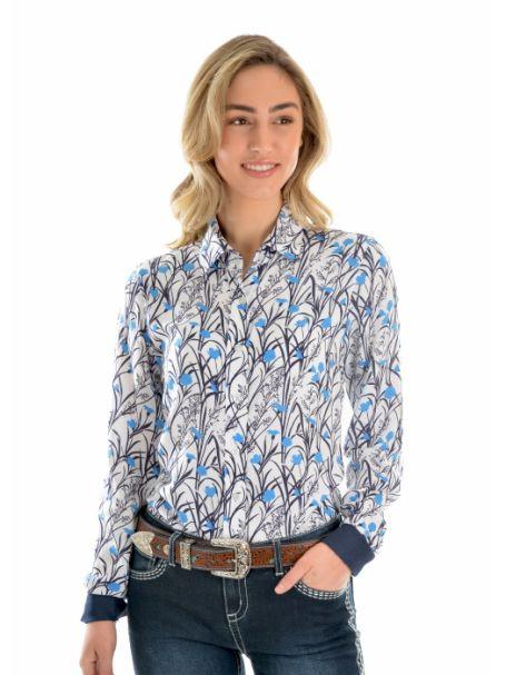 Ladies' Wrangler Anna Print Long Sleeve Button-Up Shirt