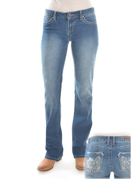 Ladies' Rock 47 Relaxed Bootcut Stretch Jeans TRUE BLUE