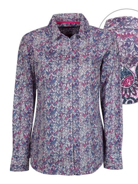 Ladies' Wrangler Long Sleeve Button Up Collar Shirt SARINA PRINT
